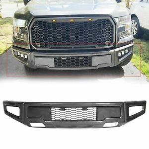 For 2015 2017 Ford F150 Raptor Style Gray Steel Front Bumper Conversion Upgrade