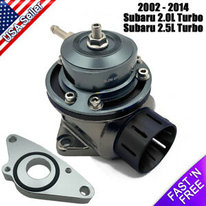 Fv Blow Off Valve 40mm Bov With Adapter Flange For Subaru Impreza Wrx Sti