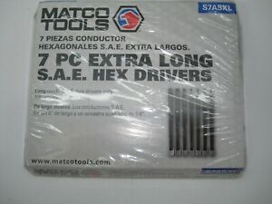 Matco Tools 7 Pc 1 4 Drive Extra Long Hex Drivers Sae S7asxl New
