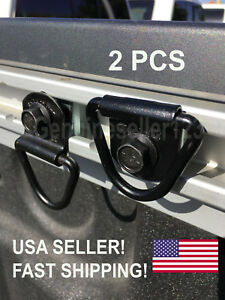 2x Tie Down Hook Bed Rail Cleat Utili Track Cargo Fits Nissan Titan Frontier