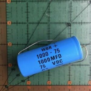 1000uf 75v Cornell Dubilier Axial Capacitor Wbr1000 75 Audio 10 100 Amp X 4