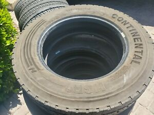 Used Continental Hsr 225 70r19 5 Load G 14 Ply Commercial Tires Dot 2015