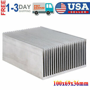 New 100x69x36mm Aluminum Heat Sink Fit For Led Transistor Ic Module Power Supply