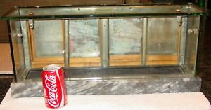 Antique Salesman Sample Country Store Display Case Oak Glass Marble 15544