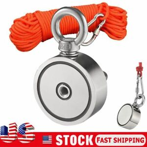 Big 650lbs Fishing Magnet Kit Strong Neodymium Pull Force With Rope