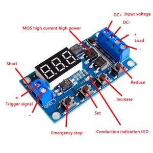 Dc5 36v Trigger Cycle Time Delay Switch Dual Mos Tube Control Module Lcd Display