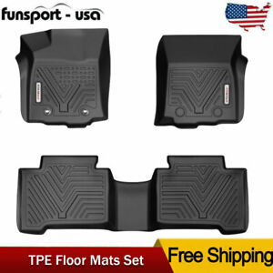 Custom Fit For 2016 2017 Toyota Tacoma Double Cab Floor Mats Liner All Weather