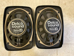 Two Gm Delco 10 Ohm 6 X 9 Car Speaker Used Pair