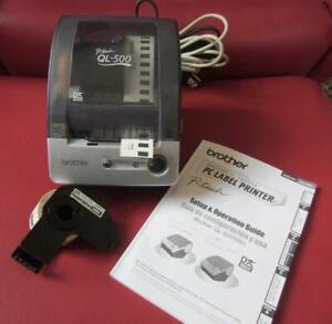 Brother P touch Ql 500 Label Printer Connects To Pc Userguide cd extra Roll Ec
