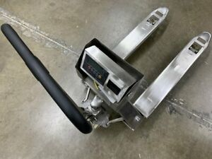 Ss 3300 pjl Pallet Jack Scale With Built in Printer L 3300 Lb Capacity