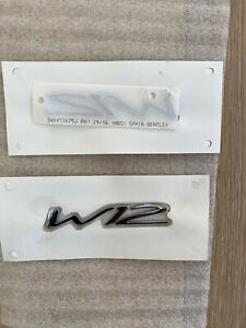Oem Bentley Gt Gtc W12 Badge Oem New
