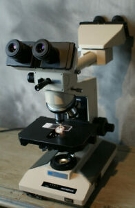 Olympus Bh 2 Medical Microscope Dual Head Teaching 4 Objectives Many Accessories