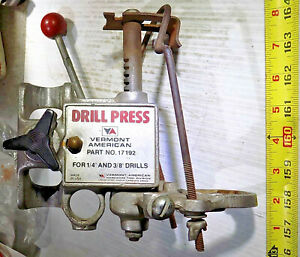 Vintage Vermont American Drill Press 17192 Attachment For 1 4 3 8 Hand Drill