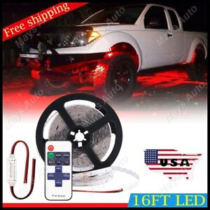 For Chevy Silverado Led Rock Lights Underbody Glow Under Car Red Neon Accent