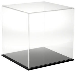 Plymor Clear Acrylic Display Case With Black Base 12 X 12 X 12