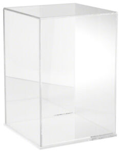Plymor Clear Acrylic Case W Clear Base mirror Back 10 W X 10 D X 15 H