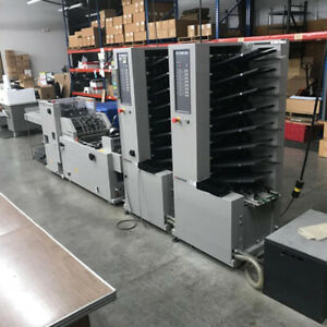 Horizon System Mc80 Air Feed Collator Booklet Maker 2 Tower 8 Bin Each
