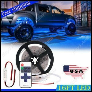 For Ram 1500 3500 Neon Accent Rock Lights Blue Led Underbody Glow Under Car Kit