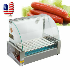 Usa Electric 18 Hot Dog 7 Roller Grill Cooker Machine 1350w Commercial Grade Fda
