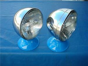 Model A 1928 29 30 31 32 Ford Chevy Sealed Beam Chrome Dietz Style Headlights