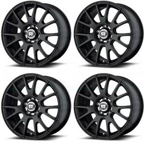 18x8 Matte Black Wheels Motegi Mr118 5x112 45 set Of 4