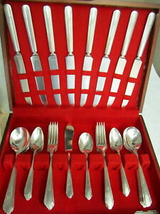 Paramount By Wm A Rogers Flatware Silverplate Set Service For 8 W Storage Box