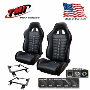 Tmi Pro Series Chicane Sport Xr Racing Seats Brackets For 2005 2014 Mustang
