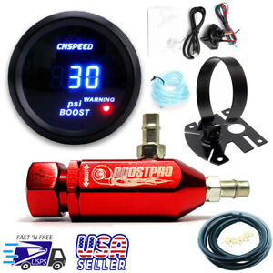 Manual Boost Controller Kit Red Turbo Mbc 0 30psi With Boost Gauge Mount