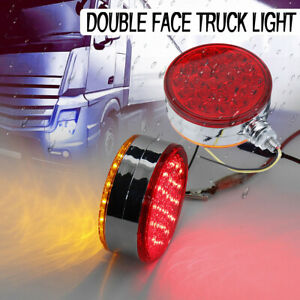 Truck Trailer Tractor Led Double Face Stop Tail Turn Signal Pedestal Stud Lamp