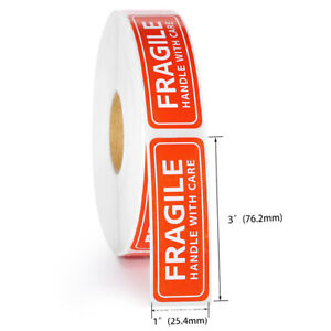 100 200pcs Fragile Label Stickers Handle With Care Thank You Warning Signs Tags