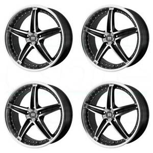 20x8 5 Black Machine Wheels Motegi Mr107 5x114 3 42 set Of 4