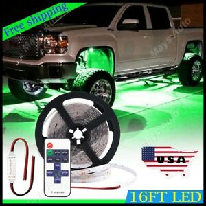For Chevy Silverado Led Lights Underbody Glow Under Car Green Neon Accent