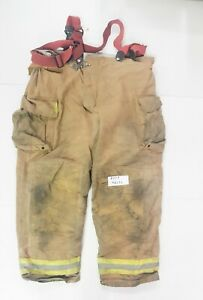 48x32 Brown Securitex Firefighter Turnout Bunker Pants With Suspenders P0153