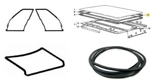 Bmw E30 Coupe 2 Doors Weatherstrip Trunk Lid Rubber Sunroof Seal Gasket 4 Pcs