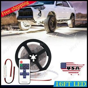 For Ram 1500 3500 Neon Accent Rock Lights White Led Underbody Glow Under Car Kit