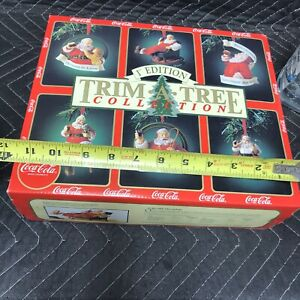 COCA COLA 1ST EDITION TRIM-A-TREE COLLECTION HOLIDAY CHRISTMAS ORNAMENT (6) LOT