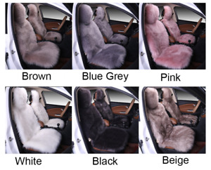 Real Sheep Skin Fur Car Seat Protector Covers One Size Fits Most Cars