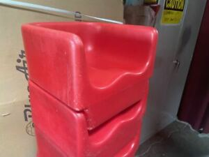 Child Seat Booster High Chair Booth Extension Kid Contoured Cambro Red 4112
