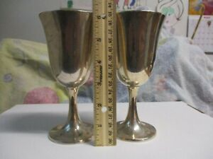 Antique Lot Of 2 Wallace 3322 Sterling Silver Wine Goblets No Monogram