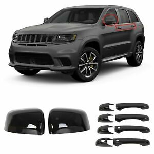 Black Mirror Covers Door Handle Covers For Jeep Grand Cherokee Dodge Durango