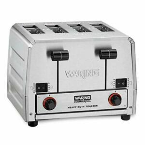 Waring Commercial Wct855 240v Heavy Duty Bread And Bagel Toaster Silver