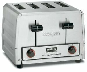 Waring Commercial Wct805b Heavy Duty Stainless Steel 208 volt Toaster With 4