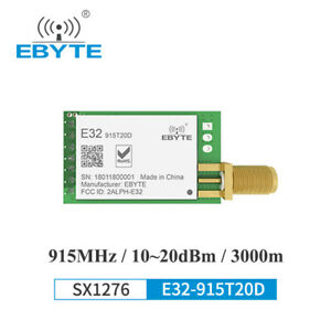 Sx1276 Lora Module 915mhz E32 915t20d 20dbm Sma Long Range Wireless Transceiver