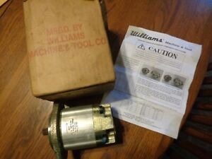 Williams Machine And Tool Gp961ccw Hydraulic Pump Direct Mount Nos 5 8 Shaft