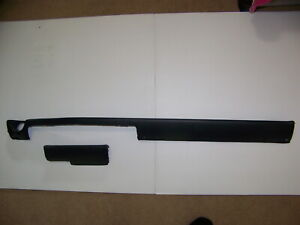 1968 Chrysler 300 Black Dash Padding 2 Pcs Non A c Oem New Yorker Newport