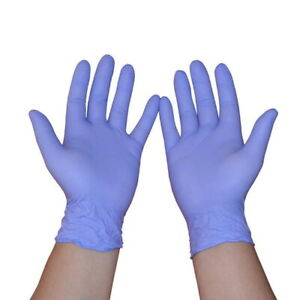 Disposable Examination Gloves Nitrile Ppe Latex Free Powder Free Box Pack 200