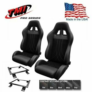 Tmi Pro Series Chicane Sport Ar Racing Seats W brackets 1966 72 Chevelle