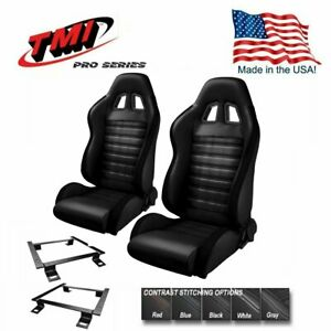 Tmi Pro Series Chicane Sport R Racing Seats W brackets 1966 72 Chevelle bench
