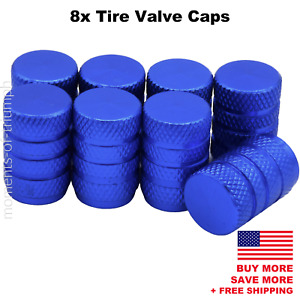 8x Universal Tire Valve Stem Caps For Car Truck Standard Fitting blue