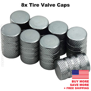 8x Universal Tire Valve Stem Caps For Car Truck Standard Fitting gray